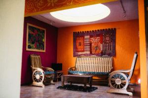 Casa de Larry interior Lake Atitlan Guatemala