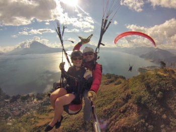 paraglidingPanajachel lake atitlan